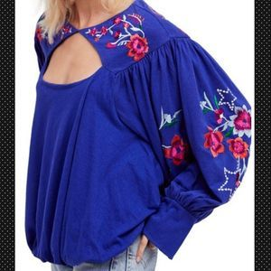 🆕Free People Lita Embroidered Bell Sleeve Top